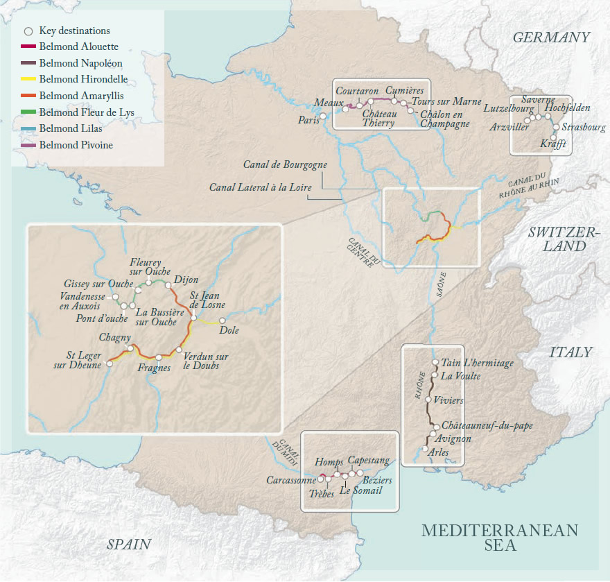 Belmond Routes Map