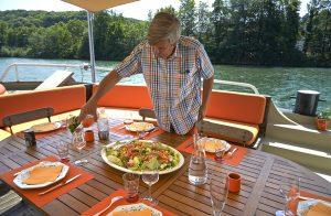 Lunch on deck © MS Elisabeth