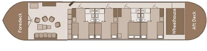 Deck Plan © Savoir Vivre