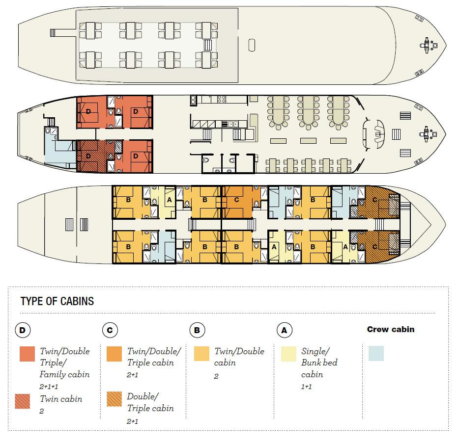 Floor Plan Barge #1 Italy