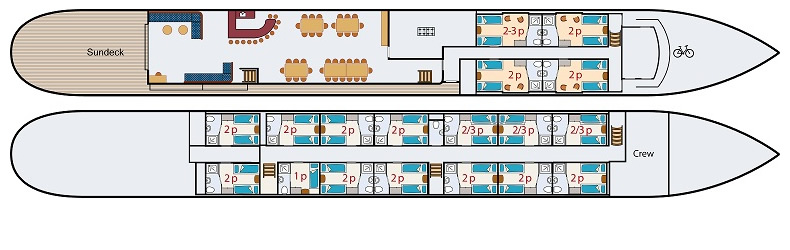 Floor Plan Barge #1